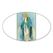 Virgin Mary Oval Decal