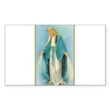 Virgin Mary Rectangle Decal