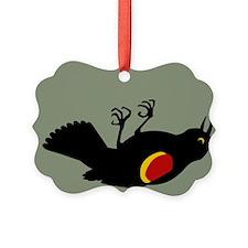 Fallen Blackbird Ornament