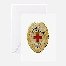 Zombie Response Team Badge Greeting Cards (Pk of 1