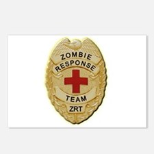 Zombie Response Team Badge Postcards (Package of 8