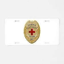 Zombie Response Team Badge Aluminum License Plate