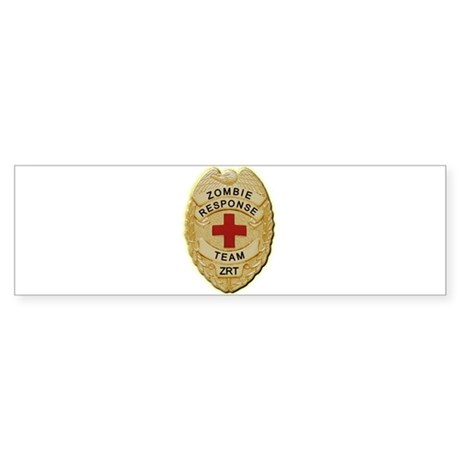 Zombie Response Team Badge Bumper Sticker