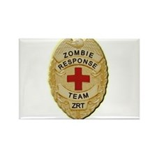 Zombie Response Team Badge Rectangle Magnet (10 pa