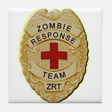 Zombie Response Team Badge Tile Coaster