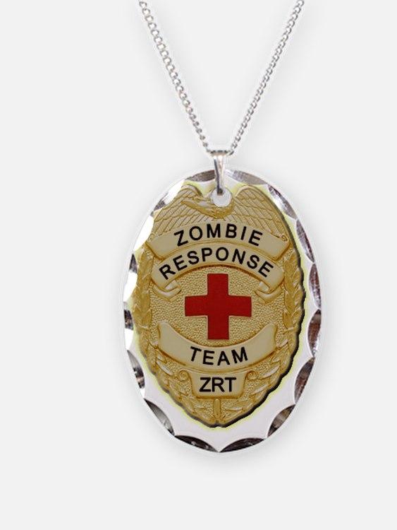 Zombie Response Team Badge Necklace