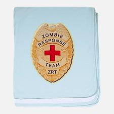 Zombie Response Team Badge baby blanket