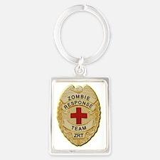 Zombie Response Team Badge Portrait Keychain