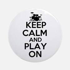 Keep Calm and Play On Ornament (Round)