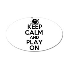 Keep Calm and Play On Wall Decal