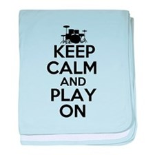 Keep Calm and Play On baby blanket