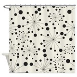 Black and white retro Shower Curtains