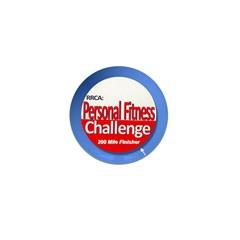 200 Mile Personal Fitness Mini Button (10 pack)