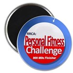 800 Mile Personal Fitness Challenge Magnet