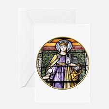 Saint Adelheid Stained Glass Window Greeting Card