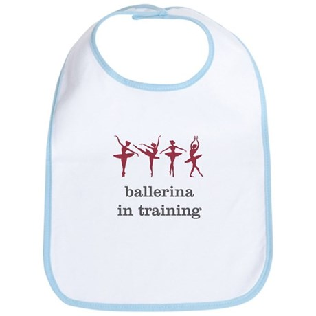 Ballerina in training, pink Bib