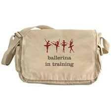 Ballerina in training, pink Messenger Bag