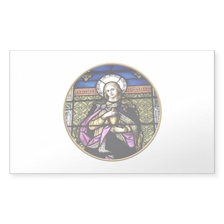 St. Mary Magdalene Stained Glass Window Sticker (R