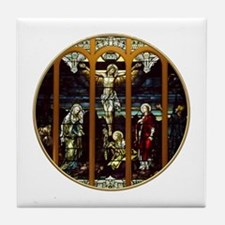 Crucifixion of Jesus Christ Stained Glass Window T