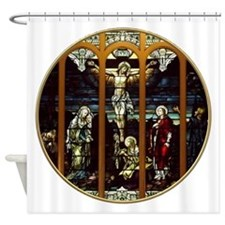 Crucifixion of Jesus Christ Stained Glass Window S
