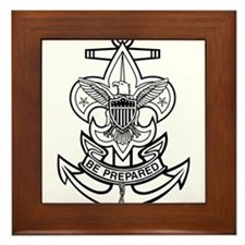 Sea Scout First Class Anchor Framed Tile