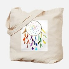 Rainbow DreamCatcher Tote Bag