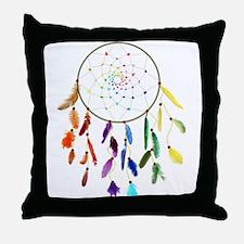 Rainbow DreamCatcher Throw Pillow