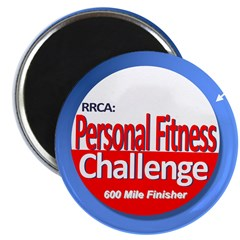 600 Mile Personal Fitness Magnet