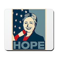 Hillary Clinton Hope Poster Mousepad