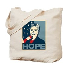 Hillary Clinton Hope Poster Tote Bag