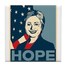 Hillary Clinton Hope Poster Tile Coaster