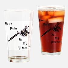 Funny Tattoo Drinking Glass