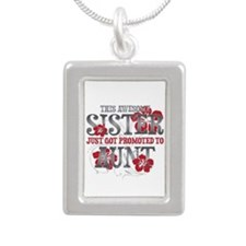 Promoted Aunt Silver Portrait Necklace