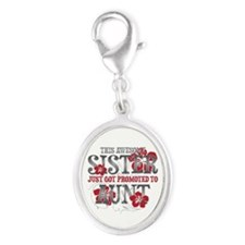 Promoted Aunt Silver Oval Charm