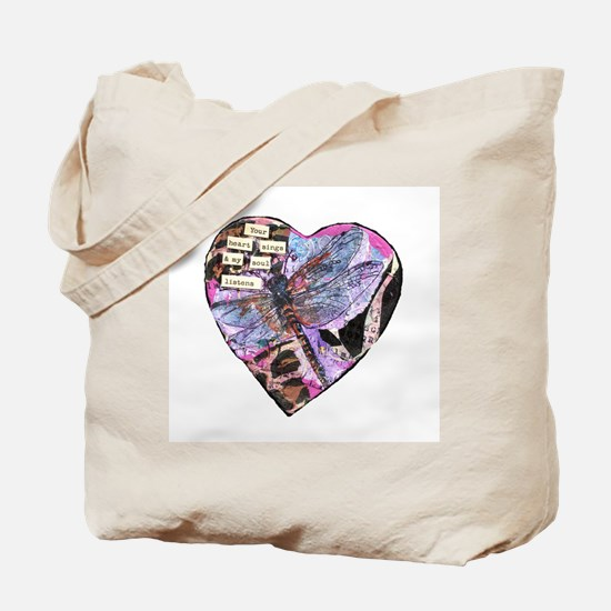 Your Heart Dragonfly Tote Bag