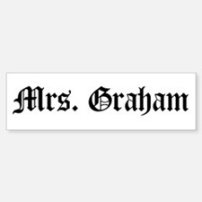 Mrs. Graham Bumper Car Car Sticker