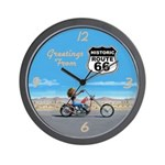 Greetings From Route 66 Wall Clock