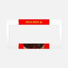 holmes and watson License Plate Holder