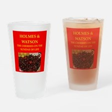 holmes and watson Drinking Glass