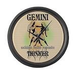 Gemini The Thinker Large Wall Clock