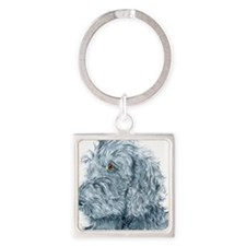 blackdoodle.png Square Keychain