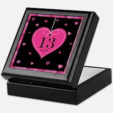 13th Anniversary Heart Keepsake Box