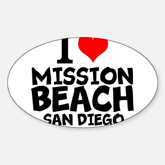 I Love Mission Beach, San Diego Decal