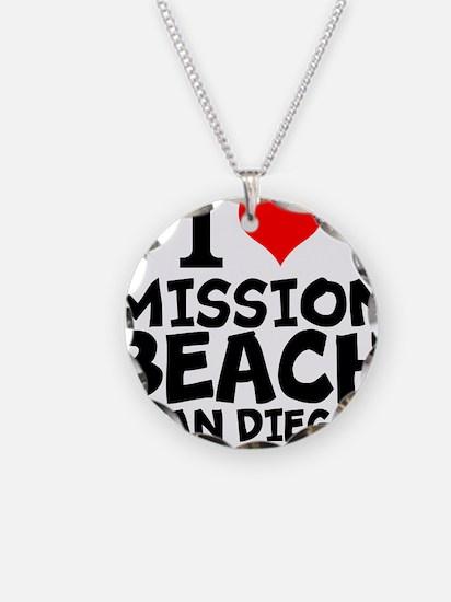 I Love Mission Beach, San Diego Necklace