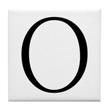 Greek Letter Omicron Tile Coaster