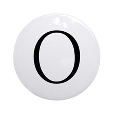 Greek Letter Omicron Ornament (Round)