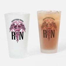 Funny Rn Drinking Glass