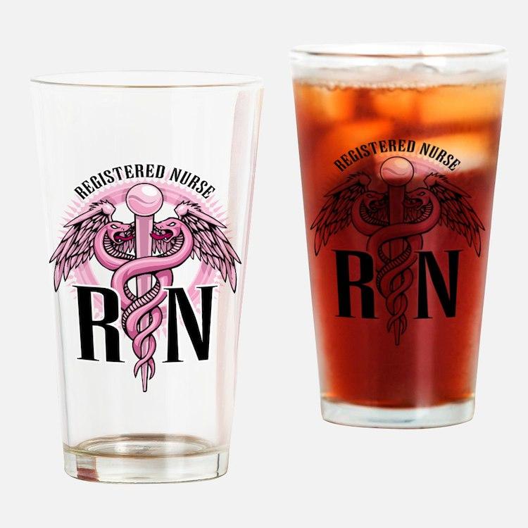 Cute Registered nurse Drinking Glass