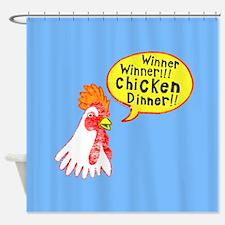 Winner Chicken Dinner Shower Curtain