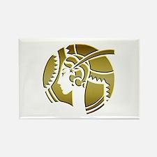Golden Art Deco Lady Rectangle Magnet